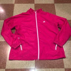 Adidas pink lightweight jacket xl